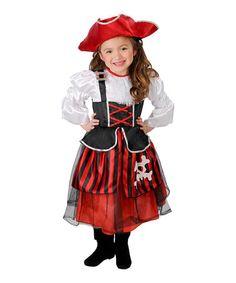 Look what I found on #zulily! Red & Black Buccaneer Dress-Up Set - Toddler & Girls #zulilyfinds