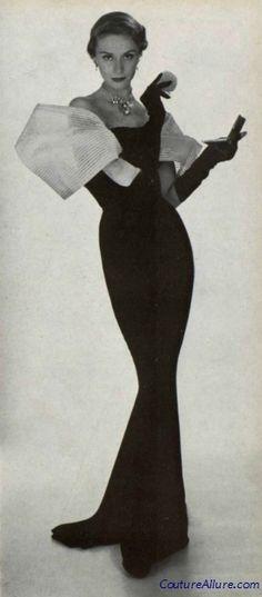 Jean Patou evening gown, 1950.