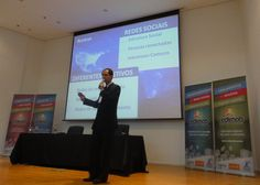O diretor de Marketing do Redimob, Leonardo Stuepp Jr. ministrou a palestra  - Segmentação das mídias sociais. Caso: Redimob