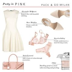 """""""Pretty in Pink - Pack and Go : Milan"""" by rachaelselina ❤ liked on Polyvore featuring Alexander McQueen, Yves Saint Laurent, Steve Madden, Chloé, women's clothing, women, female, woman, misses and juniors"""