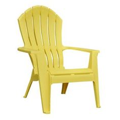 Home Hardware - Yellow Ergo Adirondack Stacking Chair $18.97- comes in red too