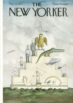 The New Yorker - Saturday, November 11, 1967 - Issue # 2230 - Vol. 43 - N° 38 - Cover by : Saul Steinberg