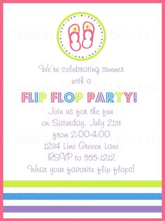 Birthday Party Blog: DIY Flip Flop Wreath