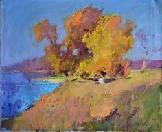 "Saatchi Art Artist Shandor Alexander; Painting, ""Beach Tisza"" #art"