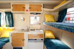 """""""As my love affair grew with the little trailers, I began restoring other ultra lights and soon found myself with a driveway full of these quirky fiberglass campers."""""""