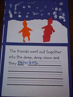 snowy day writing
