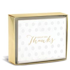 """Great Big Thanks Sweet 3"""" x 4"""" Folded Notes by Graphique de France. 10 thank you cards and envelopes. $10.00"""