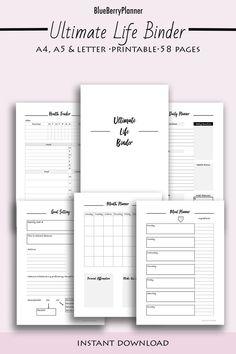 Ultimate life planner printable! Goals Planner, Travel Planner, Monthly Planner, Life Planner, Printable Planner, Printables, Goals Sheet, Journal Quotes, Journal Ideas