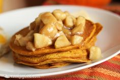 Sunday Brunch: Pumpkin Pancakes with Warm Spiced Apple Topping   My Thirty Spot