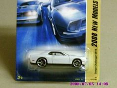 Hot Wheels 2008 New Models White Dodge Challenger SRT8 w/ OH5SPs #16 (16 of 40) by Mattel. $9.99. 2008 new models. Officially licensed by Dodge. With a front chin spoiler and 425-hp HEMI engine, this version of the '70s pony car brings memories back to reality.