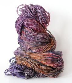 "Hand dyed yarn ""Delphinium""via Wren House Yarns"