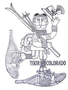 Original Tour Colorado Vintage Ski Poster 18 x 24
