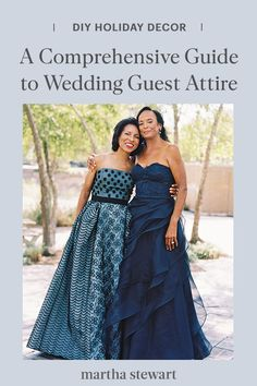 Whether you need the common dress codes decoded or just want some ideas for diversifying your look, you've come to the right place. Find out what white tie, black tie, casual, and more mean in the context of weddings and guest clothing. #weddingideas #wedding #marthstewartwedding #weddingplanning #weddingchecklist