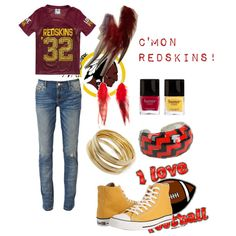 """Washington ""Redskins"""" by rebelgirl on Polyvore"