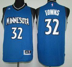 a2782c54e Men s Minnesota Timberwolves  32 Karl-Anthony Towns Revolution 30 Swingman  2015 Draft New Blue