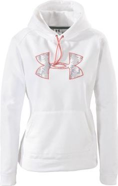 white underarmour hoodie....ok moment of truth....honestly I love this BUT I would so drop food on me or brush up against something dirty lol