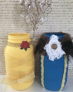 Beauty and the beast decor - custom nursery decor - custom mason jar - valentines day gift - enchanted - valentines day decor by LeChicBoutiqueCo on Etsy https://www.etsy.com/listing/497989217/beauty-and-the-beast-decor-custom