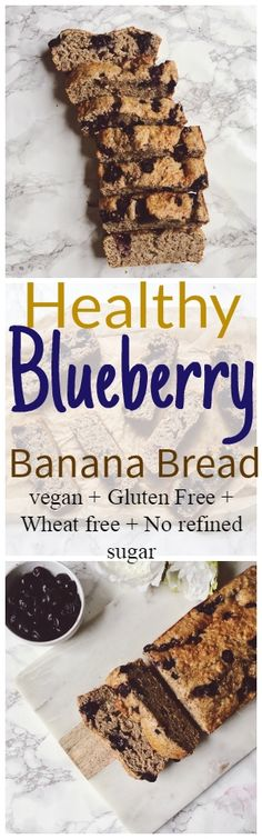 New bread banana recipe easy healthy ideas Banana Recipes Easy Healthy, Quick Healthy Desserts, Quick Bread Recipes, Fun Easy Recipes, Banana Bread Recipes, Delicious Vegan Recipes, Vegan Desserts, Delicious Desserts, Blueberry Banana Bread