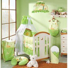 MAMO-TATO - Lenjerie patut 4 piese 120x60 Peisaj Verde Toddler Bed, Furniture, Home Decor, Green, Homemade Home Decor, Home Furnishings, Decoration Home, Arredamento, Interior Decorating