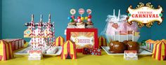 vintage carnival birthday party package via 2partyprintables