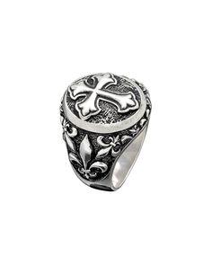Δαχτυλίδι ασημένιο 925 με σταυρό Class Ring, Rings, Jewelry, Jewlery, Jewerly, Ring, Schmuck, Jewelry Rings, Jewels