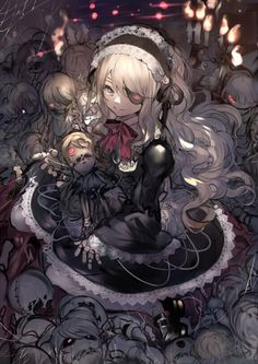 pixiv is an illustration community service where you can post and enjoy creative work. A large variety of work is uploaded, and user-organized contests are frequently held as well. Fantasy Kunst, Anime Fantasy, Fantasy Art, Girls Anime, Anime Art Girl, Manga Girl, Gothic Anime Girl, Anime Angel, Dark Anime
