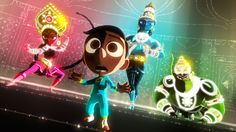 At San Diego Comic-Con on Thursday, Pixar made a big splash with a very small film. Sanjay Patel's new short, Sanjay's Super Team, transfixed the audience at its North American premiere with a story and visuals vastly unlike any Pixar project before. Film Pixar, Pixar Movies, Disney Movies, Disney Characters, Toy Story 3, Wall E, The Good Dinosaur, Disney Pixar, Le Voyage D'arlo