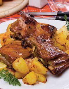 Coaste glazurate la cuptor | | Rețete | Libertatea pentru femei Pork Recipes, My Recipes, Healthy Recipes, Romania Food, Good Food, Yummy Food, Cordon Bleu, Pot Roast, Food And Drink