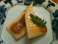 Bamboo shoots with uni miso