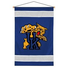 Kentucky UK Wildcats NCAA Sidelines Wall Hang/Hanging Banner