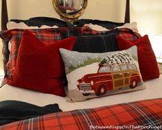Ralph Lauren Inspired Tartan Plaid Bedroom Christmas at the Cabin