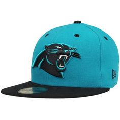NFL Carolina Panthers Two Tone 59Fifty Fitted Cap by New Era. $17.34. Show Your Team Spirit with This National Football League 2Tone 59Fifty Fitted Cap. Features An Embroidered (Raised) Team Logo At Front, A Stitched New Era Flag At Wearer'S Left Side. Interior Includes Branded Taping and A Moisture Absorbing Sweatband. Fitted, Closed Back.