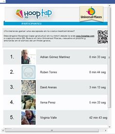 A través de la aplicación Hooptap, los participantes podrán realizar un juego tan sencillo como resolver un puzzle de una imagen de una playa. La persona que lo resuelva en menor tiempo será la que se lleve el premio.