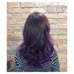 Mais um trabalho incrível do nosso hairdresser Silvio Xavier! Hair Painting em tons de violeta, ...