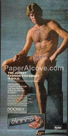 Palmers Mens Pants 1954 vintage old repro underwear advertising poster