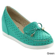 Puzzle Perry-06 Women's Chic Slip On Breathable Bow Loafers (-6)