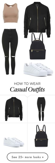 """casual"" by vickykxo on Polyvore featuring Topshop, adidas and Henri Bendel"