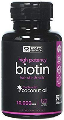 Amazon com: High Potency Biotin (10,000mcg) with Organic