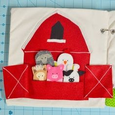 Quiet book farm animals page... Would be good for church