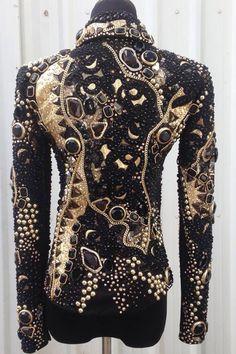 Black and Gold Jacket #horseshowbling #LindseyJames