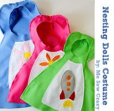 Me Sew Crazy: Nesting Dolls, an easy Costume Tutorial...