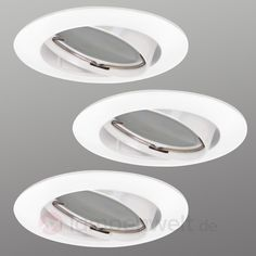 3er Set LED-Einbauspot Downlight DIM Flat 8559257X