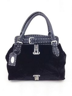 #fendi #black #velvet #satchel #purse #bagoftheday #bagporn #fashion