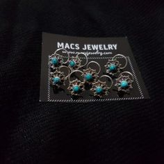 MACS Jewelry Turquoise Silver Nosepin
