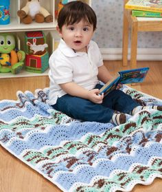 Baby Ripple Blanket - would be pretty in pink, white, and neopolitan, too
