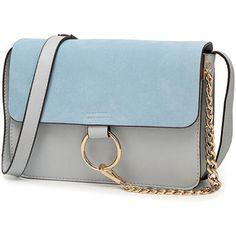 Magnetic Closure Chain Metal Ring Shoulder Bag