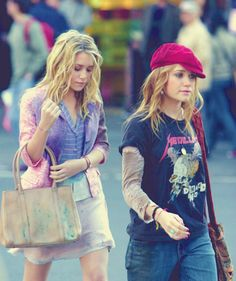 New York Minute. Can't believe this film is almost 10 years old. Ashley Mary Kate Olsen, Ashley Olsen, Elizabeth Olsen, Olsen Sister, Olsen Twins, Michelle Tanner, New York Minute, Rock Outfits, Rock T Shirts