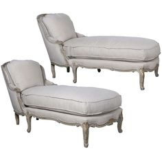 French Chaise Lounge Daybeds | From a unique collection of antique and modern chaises longues at http://www.1stdibs.com/furniture/seating/chaises-longues/