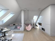 Attic room for girls - . Loft girls room – people style Pokój dziewczyny na poddaszu – 15 Source by Attic Bedroom Designs, Attic Bedrooms, Room Ideas Bedroom, Bedroom Decor, Attic Renovation, Aesthetic Bedroom, Dream Rooms, House Rooms, Girl Room