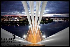 Jätkänkynttilä bridge in the city of Rovaniemi, Finnish Lapland. Photo by Arttu Nieminen. Filming Locations, Bridges, Arctic, Finland, Wilderness, Transportation, Fair Grounds, City, Travel
